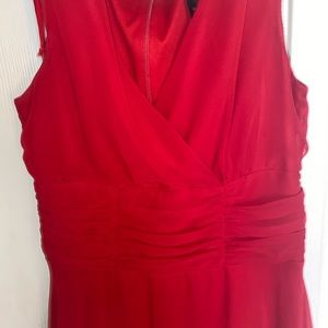 Medium length red dress